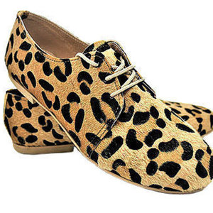 MARGO SHOES Oxfords Leopard Eco Ponyskin.