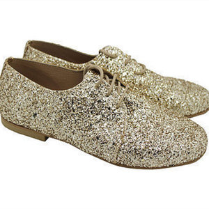 "MARGO SHOES Oxford ""GLITTER DROPS"" Χρυσό"