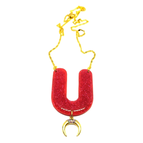 Zirgon horn necklace 1