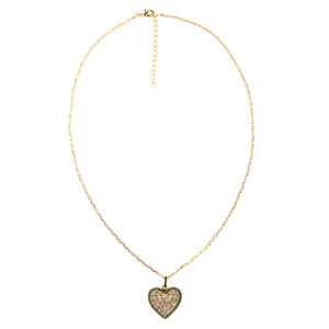 Green Heart Chain Necklace