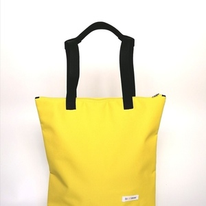 2ways bag YELLOW Τσάντα ώμου & πλάτης με φερμουάρ - πλάτης, tote, all day, ύφασμα